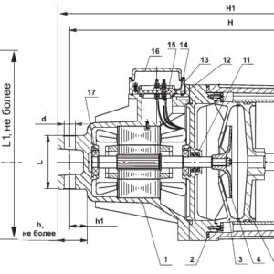 Схема толкателя электрогидравлического тэ-80
